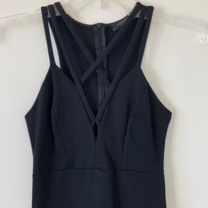 NWOT Black Bodycon Strappy Criss-cross Front Dress